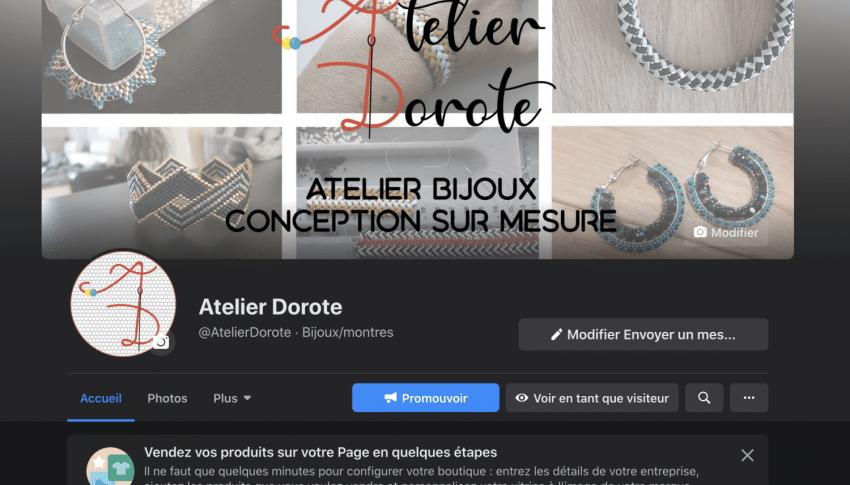 Atelier Dorote page Facebook et création graphique