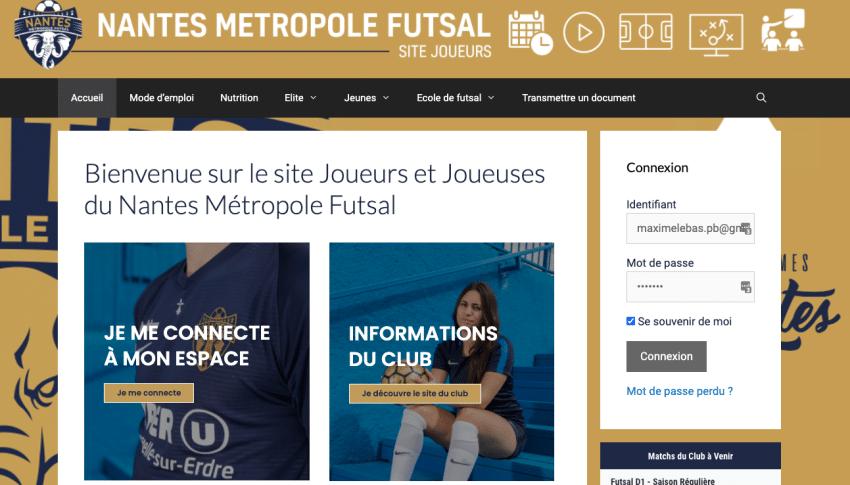 Site Personnalisé créé par SOWAM : joueurs nantes métropole futsal